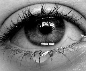 black, black and white, and cry image