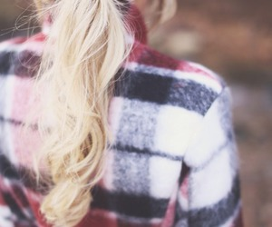 hair, blonde, and fall image