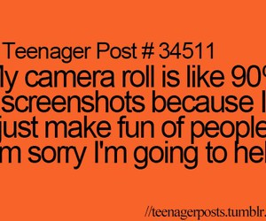 hell, teenager post, and funny image