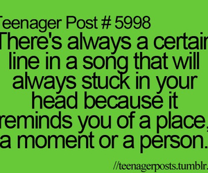 song, teenager post, and quote image