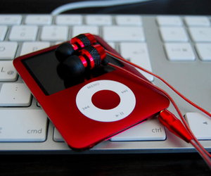 ipod, red, and music image