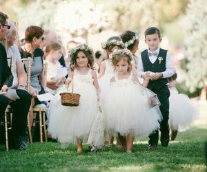 little children, cute, and wedding image
