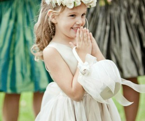 blond, flower girl, and cute image