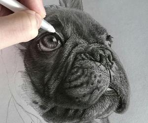 dibujo, dog, and drawing image