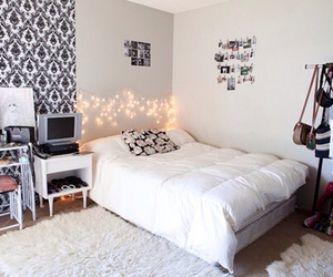 bedroom, decoration, and lighting image