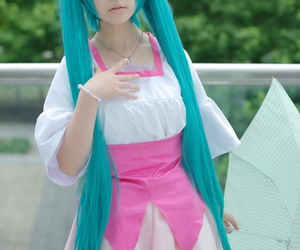 cosplay, hatsune miku, and vocaloid image