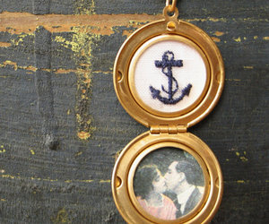 kissing, navy, and vintage image