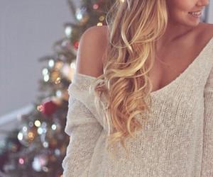 girl, blonde, and christmas image