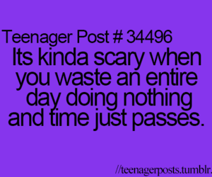 teenager post, quote, and scary image