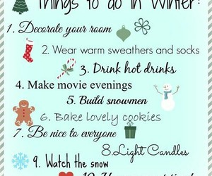 winter, christmas, and list image
