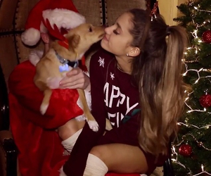 ariana grande, christmas, and santa tell me image
