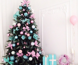 christmas, winter, and blue image