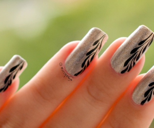 nail art, nails, and nail image