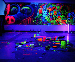 neon, art, and paint image