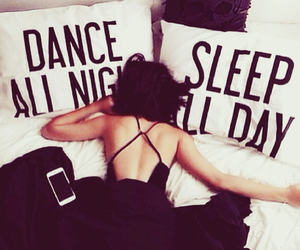 sleep, dance, and black image
