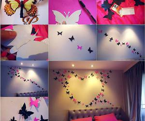 diy, butterfly, and room image
