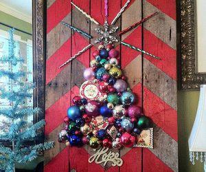 colorful, diy christmas tree, and decoration image