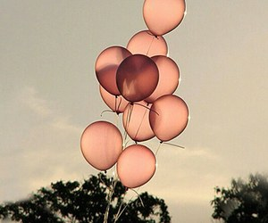 balloons, pink, and vintage image