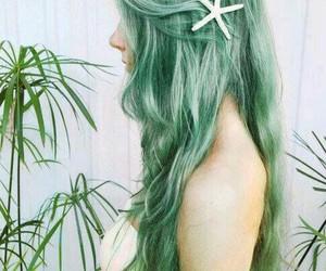 hair, green, and mermaid image