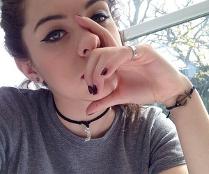 beautiful, eyes, and pale image