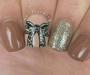 bow, nails, and cute image