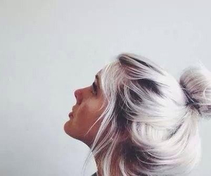 hair, pretty, and silver image