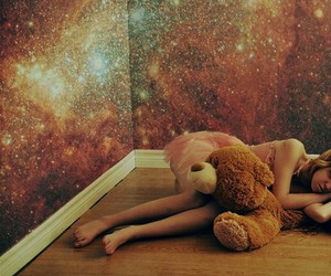 art, girl, and universe image