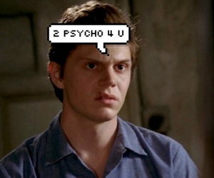 evan peters, ahs, and Psycho image
