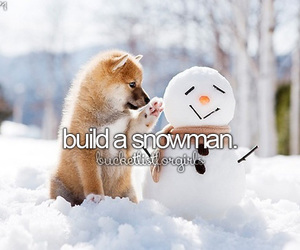 snowman, winter, and bucket list image