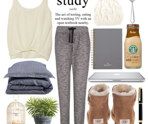 outfit, study, and starbucks image