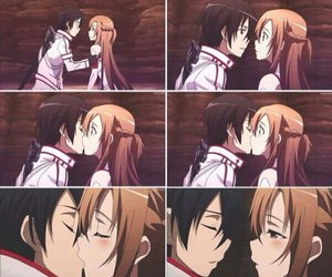 anime, kirito, and asuna image