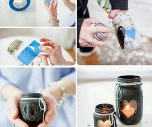 candle, heart, and gift image