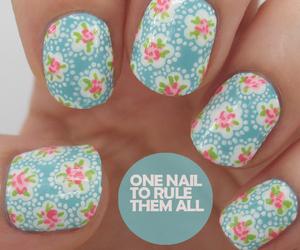 nails, blue, and dots image