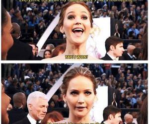 Jennifer Lawrence, funny, and lol image