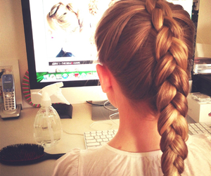 blond, braid, and braids image