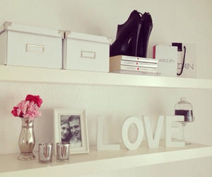 love, room, and white image