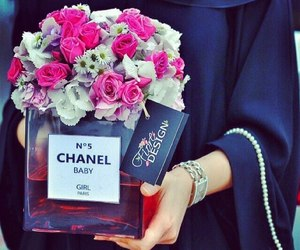 chanel, flowers, and style image