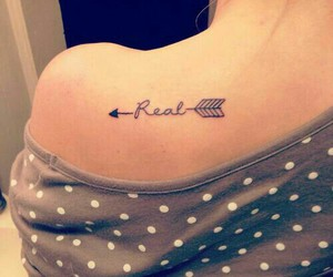 tattoo, real, and arrow image