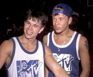 mark wahlberg, new kids on the block, and donnie wahlberg image