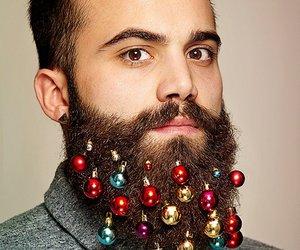 beard, christmas, and tree image