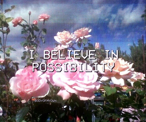 happy, believe, and flowers image