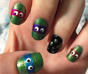 nail art and ninja turtles image