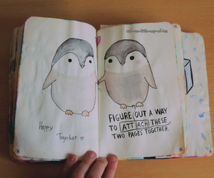 penguin, wreck this journal, and WTJ image