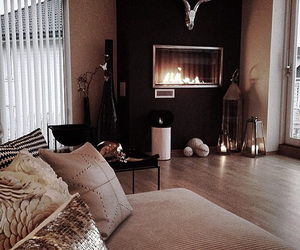 couple, expensive, and fireplace image