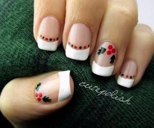 nails, christmas, and fashion image
