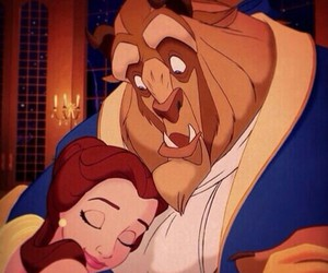 beauty and the beast, movie, and cartoons image