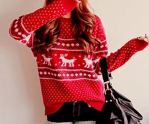 fashion, sweater, and christmas image