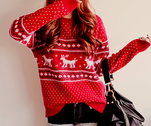 fashion, sweater, and christmas image