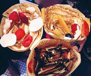 chocolat, yummy, and crepes image