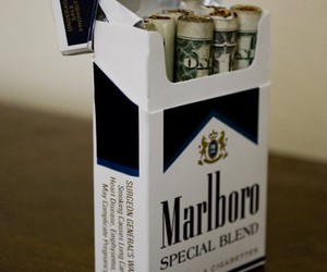 marlboro, cigarette, and money image
